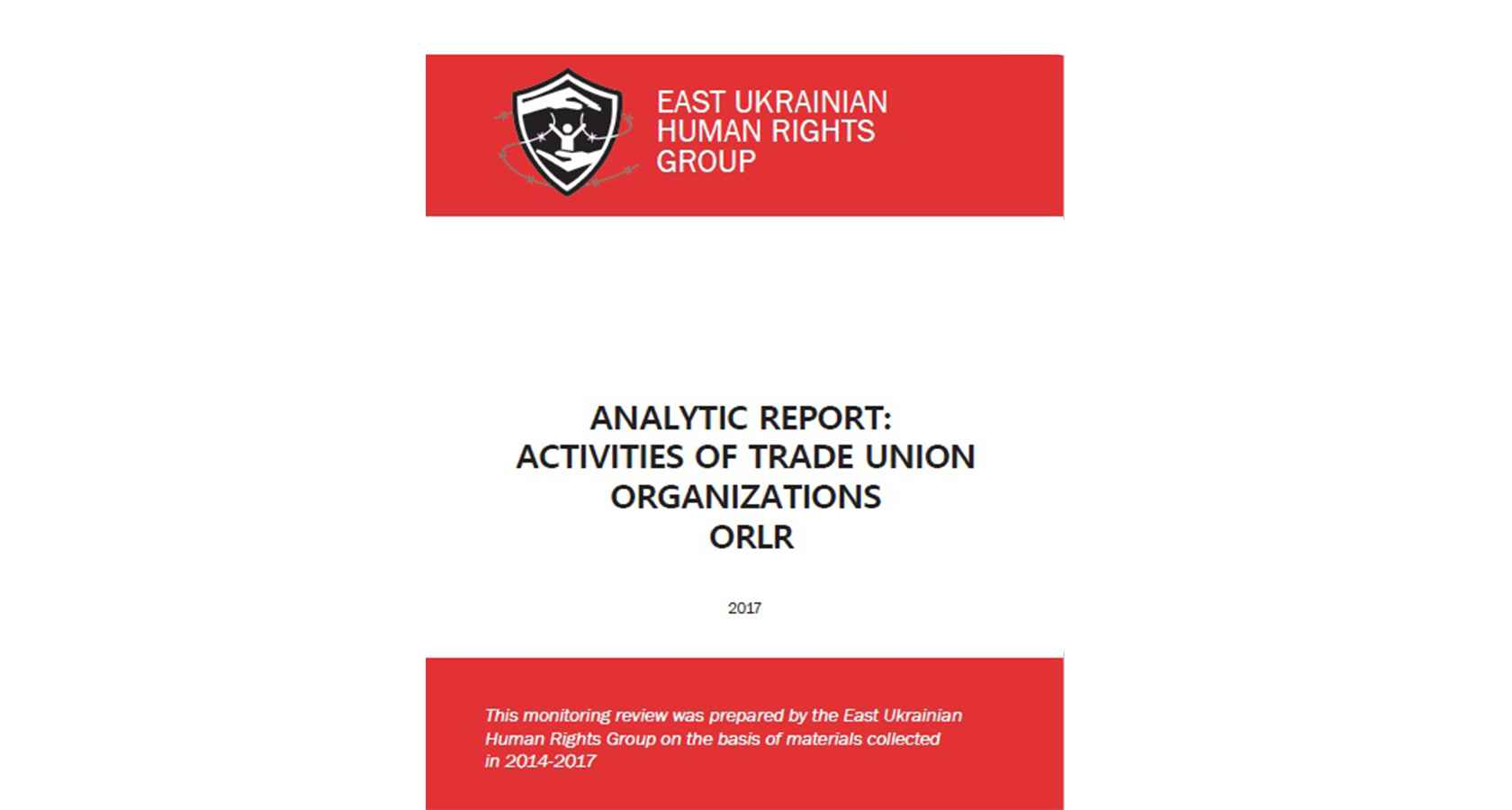 Analytic report: activities of trade union organizations ORLO. Download